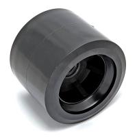 Ролик подкильный 80мм черный пластик С11230