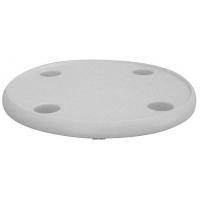 Столешница пластиковая круглая, диаметр 24 дюйма