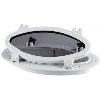 Иллюминатор овальный, 220x410 мм, белый