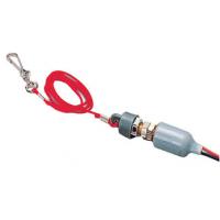 Аварийный шнур-выключатель, серый корпус, нормально замкнут.