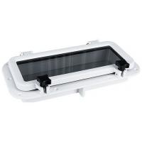 Иллюминатор прямоугольный, 220x400 мм, белый